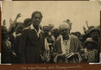 Annie Besant y Krishnamurti. Apertura Campamento de la Estrella.